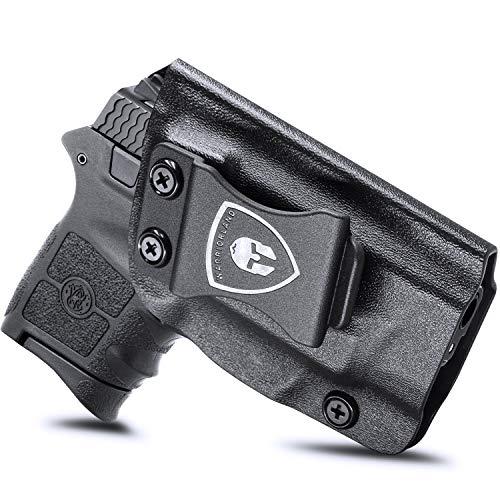 IWB KYDEX Holster Fit: S&W M&P Bodyguard 380 / Bodyguard 380 Auto & Integrated Laser Pistol, Inside Waistband Concealed Carry for Men / Women, Bodyguard 380 Holster, Adj. Cant / Retention