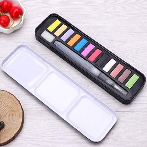 Acuarela sólida Dibujo portátil Arte acrílico Artículos de Pintura Pintura y (Colores de otoño) (12 Colores) (Color : 12 Colors)
