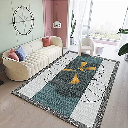 IRCATH Gris Gris Claro Gris Mosaico Flor patrón Moderno Dormitorio Cama sofá Cama Sala de Estar alfombra-160x200cm Las alfombras Son aptas para Suelos radiantes