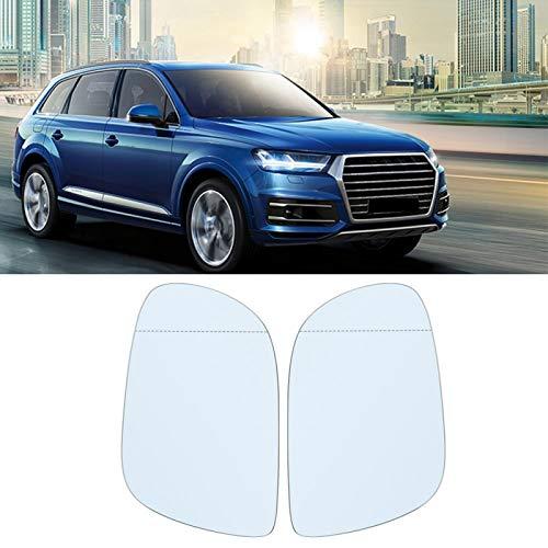 Specchietto retrovisore Auto antiusura umanizza affidabile Vetro Riflettente per Il Tuo Veicolo per Audi Q7 06-09 Bianco