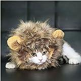 homiki Dog Cat Artificial Lion Mane peluca sombrero Pet Dress Up con orejas Halloween Party Festival