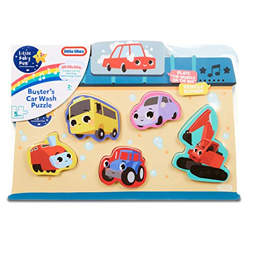 Little Baby Bum 5-Piece Chunky Wooden Sound Puzzle Plays Wheels on The Bus
