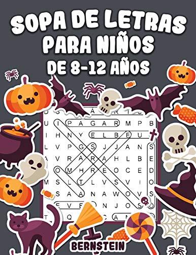 Sopa de letras para Niños de 8-12 años: 200 Sopa de letras con soluciones - Entrena la Memoria y la Lógica (edición de Halloween)