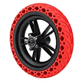 Alomejor 8.5 Inch Solid Tire Rubber Prismatic Tyre E-Bike Anti-Explosion Damping Solid Tire Shock Absorber Non-Pneumatic Tyre for Xiaomi M365(Red)