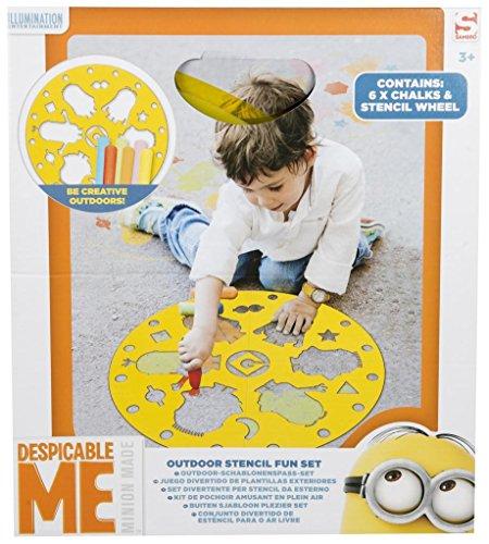 MINIONS min8–4333Outdoor Schablone Fun Set, Mehrfarbig