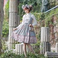 ロリータピンク/ブルードレス毎日サスペンダーロリータドレスちょう結びコスプレアニメ甘いゴシックロリータかわいいドレス