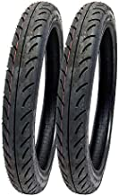 MMG Set of 2 Tires 2.50-16 (P83) Front/Rear Motorcycle Sport Street Performance Tread