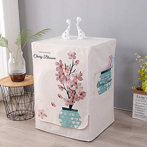 Carga Frontal | Funda de protección para Lavadora/Secadora de Carga Frontal, Funda para lavadora-Funda para lavadora-Árbol de flores_L tamaño 60 * 60 * 85 cm