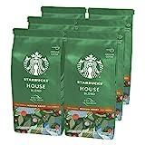 Starbucks House Blend Medium Roast Ground Coffee 200 g Bag (Pack of 6)