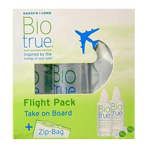 Bausch und Lomb Biotrue Kontaktlinsen-Pflegemittel für weiche Linsen, Reise-Set, Flight Pack 2 x 60 ml