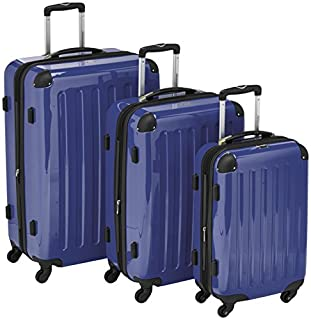 HAUPTSTADTKOFFER - Alex- Set of 3 Hard-side Luggages Trolley Suitces Expandable, (S, M & L), dark blue (B00XJJ64S6)   Amazon price tracker / tracking, Amazon price history charts, Amazon price watches, Amazon price drop alerts