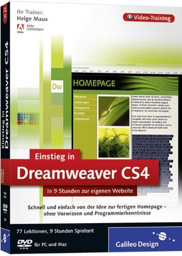Adobe Dreamweaver CS4 - Der praktische Einstieg. Das Video-Training auf DVD [import allemand]