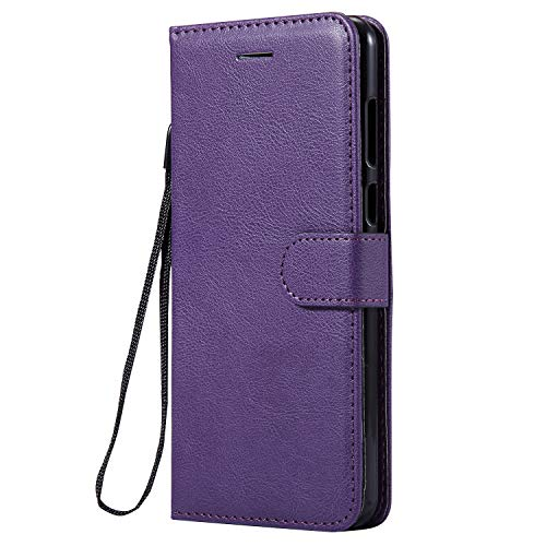 Hülle für Huawei Honor 7X Hülle Handyhülle [Standfunktion] [Kartenfach] Tasche Flip Hülle Cover Etui Schutzhülle lederhülle flip case für Huawei Honor 7X - DEKT050654 Violett