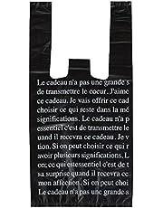 手提げ袋 レジ袋 ブラックフレンチ-S (100枚) BFR-S