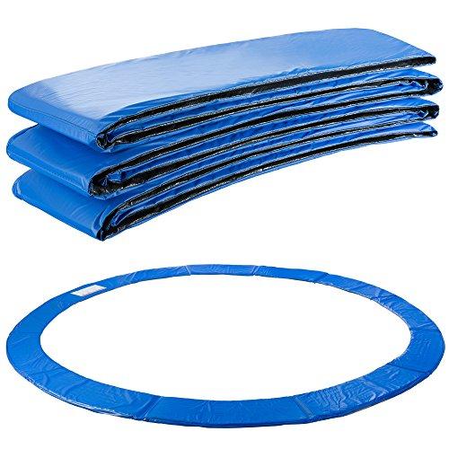 Arebos Trampolin Randabdeckung Federschutz   183, 244, 305, 366, 396, 457 oder 487 cm   aus PVC und PE   Reißfest   100{2aa3c0183ae693df5480f84f74161f7a3f3b7d4ed8a71ceb02788af15a8b02e6} UV-beständig   Blau (blau, 396 cm)