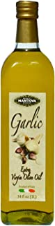 Mantova Garlic Extra Virgin Olive Oil (EVOO), Cold-Pressed, Imported from Italy. Topping for salad, vegetables, pasta sala...