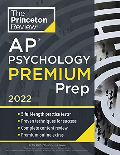 Princeton Review AP Psychology Premium Prep, 2022: 5 Practice Tests + Complete Content Review + Stra