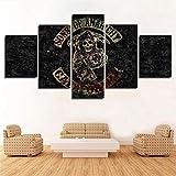 JRDWLH Gemälde 5 Stücke Sons of Anarchy Anime Poster Hd Print Bilder Wandkunst Raumdekor Leinwand Gemälde [B] Mit Rahmen