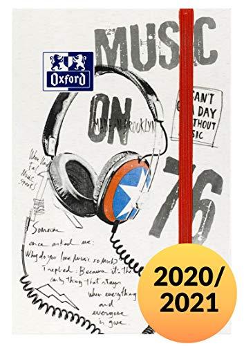 Oxford Kalender Schülerkalender 2020/2021 Sport Spirit Music mit Tagesansicht 12x18 gebunden 176 Blatt, 1 Stück