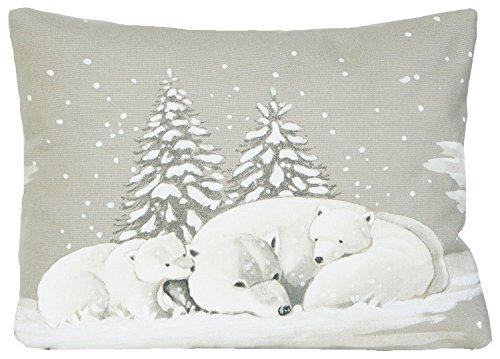 Ours polaires Housse de coussin Taie d'oreiller couverture de Noël Noël Neige