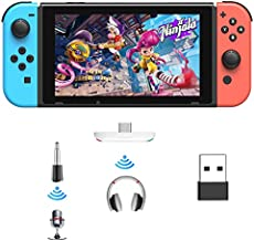 Bluetooth Adapter for Nintendo Switch/Lite, BT 5.0 Wireless Audio Transmitter with Low Latency USB C to A Converter for Bluetooth Headphone Speakers on PS4 PS5 PC Laptop Airpods, White