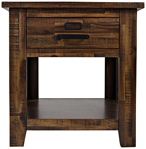 Jofran: , Cannon Valley, Square End Table, 24'W X 24'D X 25'H, Cannon Valley Finish, (Set of 1)