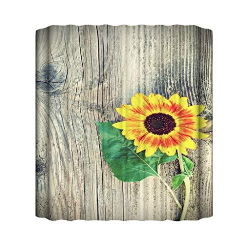 Xmiral Duschvorhänge Wasserdicht Blume Gedruckte Polyester Badezimmer Gardinemit 12 Haken 180x180cm(H)