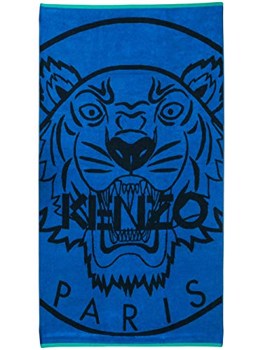 Kenzo tiger logo toalla de playa Azul Negro