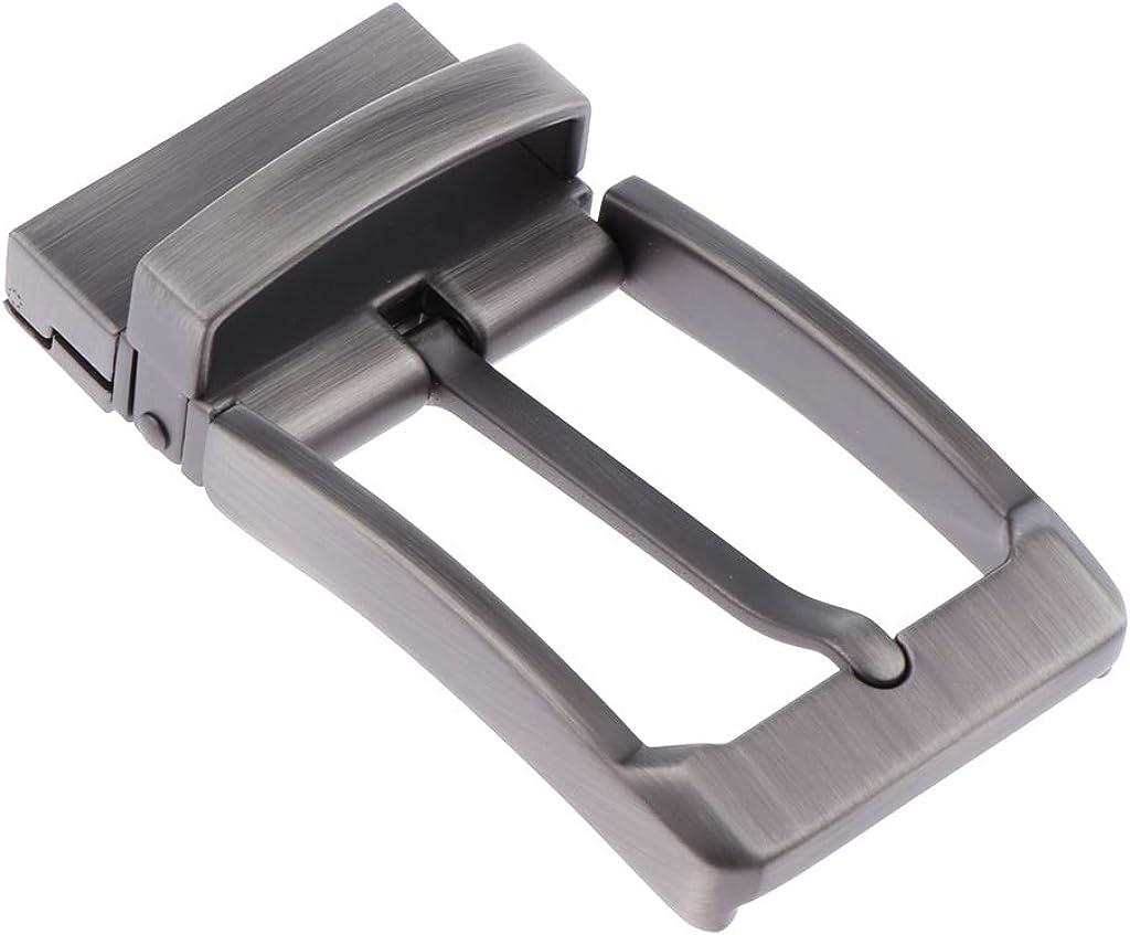 sharprepublic 5pcs Mens Antique Belt Buckle Single Prong Rectangular Pin Buckle Reversible