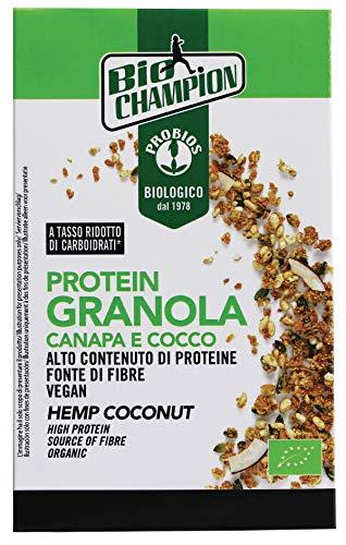 Probios Protein Granola Canapa e Cocco Bio - Senza Glutine - Confezione da 6 x 250 g