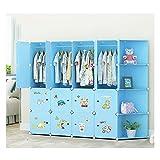 Closet plegable Armario portátil para niños Combinación Armario Modular Gabinete modular para ahorrar espacio Organizador...
