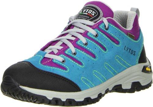 LYTOS Damen Wanderschuhe Trekkingschuhe türkis violett, Größe:42, Farbe:Violett