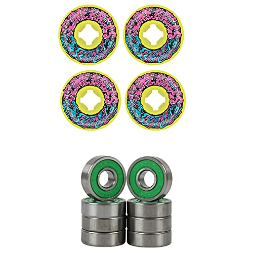 Slime Balls Skateboard Wheels 54mm Vomit Mini 97A Yellow ABEC 7 Bearings