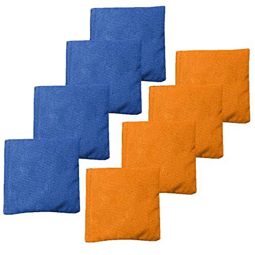 Weather Resistant Cornhole Bean Bags Set of 8 - Orange & Blue