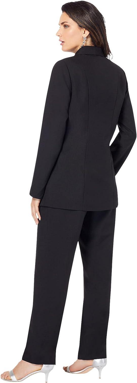Roamans Women's Plus Size Ten-Button Pantsuit