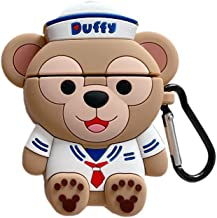 Airpods Pro Case Duffy, AKXOMY 3D Cute Cartoon Duffy Bear Airpods Pro Case,Soft Silicone Shockproof Protective Earphone Case for Girls Women Kids Teens Boys (Duffy Bear)