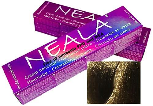 Professionelle haarfarbe ammoniakfrei OHNE AMMONIA und frei von PPD und MEA -8- Hellblond - NEALA 100ml.