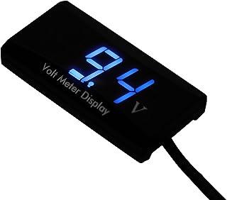 Azul Voltimetro pantalla digital 12V-24V DC coche motocicleta LED impermeable R SODIAL Voltimetro pantalla digital