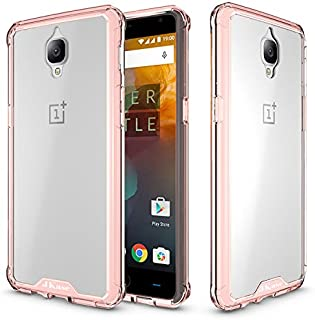 JKase OnePlus 3T/OnePlus 3 Case, Scratch Resistant Lightweight Hybrid Clear Back Panel Protective Cover Case for OnePlus 3T, OnePlus 3 (Champagne)