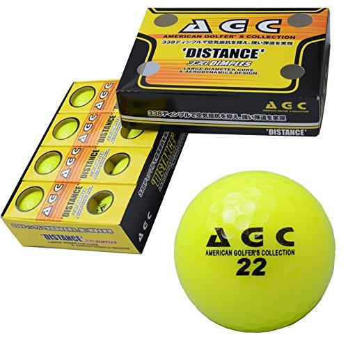LEZAX(レザックス) ゴルフボール AGC 2ピース 1ダース(12個入り) ネオンイエロー AGBA-4714 YE