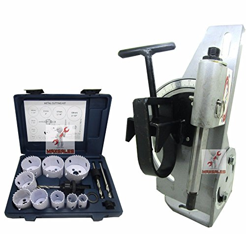 "9TRADING Tube & Pipe Notcher 60 Degree Notch Up To 2-1/8"" Tubing & 13pc Bi Hole Saw Kit, Free Tax, Delivered within 10 days"