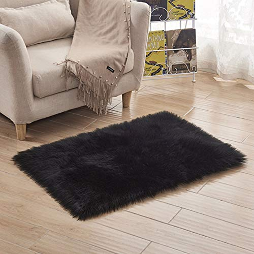 Super Soft Faux Fur Area Carpet, Fluffy Carpet Plush Chair Cover Seat Cushion Fuzzy Carpet, Fluffy Carpet, Bedroom Floor Sofa Living Room,Multiple Size Options,5555cm(21.621.6in)