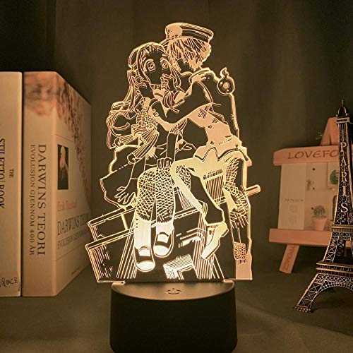 Calendario de Adviento 2021Acrílico 3D Lámpara Anime Toile Fijaciones Hanako Kun Dormitorio Decoración Multicolor Luz nocturna Lámpara de mesa Hanako Kun Regalo DUYAO00