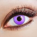 aricona Kontaktlinsen - Violette Kontaktlinsen stark deckend ohne Stärke - Farbige Kontaktlinsen Motivlinsen für Karneval, Fasching, Cosplay und Motto-Partys, 2 Stück