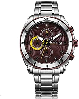 ميجير ساعة يد رجالية انالوج بعقارب ، ستانلس ستيل ،MS2075G-10