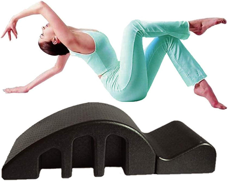 A-MUZI Zurück Orthese, Sport Yoga Und Pilates Fitnessgerte, Multifunktions-Pilates Bogen Wirbelsule Orthese, Massage Artefakt, Multi-Funktions-Yoga Artefakt,schwarz