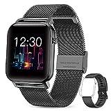 GOKOO Smartwatch Mujer Reloj Inteligente Fitness Deportivo IP68 Impermeable Pulsómetros Entrenamiento Respiratorio Monitor de Sueño Smart Watch Bluetooth Compatible con Android iOS(Negro).