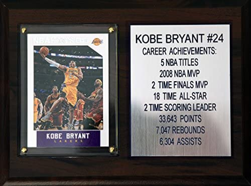 NBA Los Angeles Lakers Kobe Bryant Career Stat Plaque 6 x 8 Brown product image