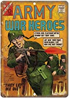 2個 陸軍戦争ヒーローズコミック面白いレトロプラークアートメタルティンサイン8X12インチ