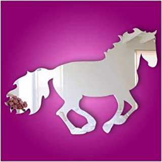 Alrens(TM)Horse Pattern Modern Creative Design Wall Decals DIY 3D Acrylic Mirror Surface Wall Sticker Living Room Children Room Bedroom adesivo de parede Home Decoration Mural Decor